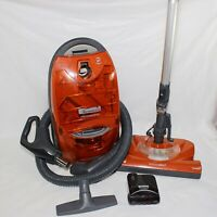 Kenmore 116 Progressive True Hepa Canister Vacuum Cleaner, 12 Amps. Orange READ