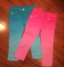 Guess Jeans Girls Lot Of 2 Pair of Pants Size 4 Ombré Blue and Pink