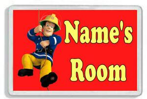 Personalised Fireman Sam Kids Door Plaque- Childrens Bedroom *SIZE= 9.5 x 6.5cm*