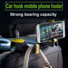 1x Universal Car Seat Headrest Arm Hanger Hook for Bag Coat Phone Holder Beige