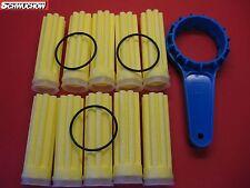 FITRE À HUILE FILTRES À DE CHAUFFAGE 10 X LONG SIKU JAUNE 50 µm Clé modèle