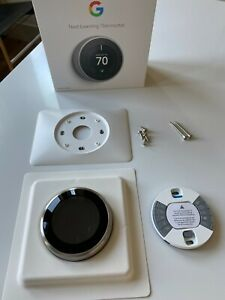 Open Box, Google Nest Learning Thermostat 3rd Generation Stainless Steel T3007ES
