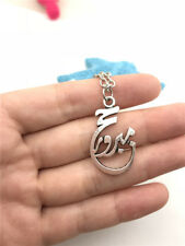 Rare 3D OM Buddha Necklace Charms Jewelry Tibet silver Pendant Chain Necklace