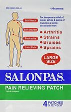 "10 Pack (5"" x 3""), SALONPAS Pain Relieving Patches, Arthritis, Pain, 40 patches"