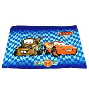 Cars Disney Pixar Mater Lightning McQueen Piston Cup Pillowcase Standard Twin