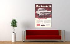 "1967 RAMBLER REBEL V8 AMC AD PRINT WALL POSTER PICTURE 33.1""x23.4"""