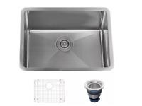 """Miseno 23"""" MNO162318SR Undermount Single Basin Stainless Steel Kitchen Sink"""