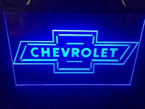 Chevrolet Bow tie Led Neon Light Sign Chevy Game Room Man Cave