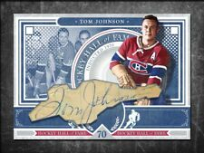 TOM JOHNSON Custom Cut signed autographed card Montreal Canadiens (3)