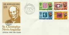 St CHRISTOPHER NEVIS ANGUILLA 1979 ROWLAND HILL CENTENARY FIRST DAY COVER a