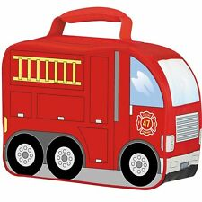 Thermos Insulated Soft School Food Lunch Box Kit Fire Truck Kids Children Boys