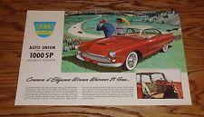1960 Auto Union 1000 Sports Coupe Sales Brochure 60