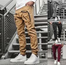 Hombre Informal Chándal Pantalones de gimnasia de carga de combate Suelto Pantalones De Entrenamiento Deportivos