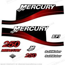 Mercury 250hp Saltwater Series Outboard Decal Kit 1999- 2004 - Red