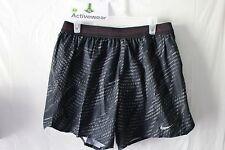 "NWT NIKE AEROSWIFT Mens 5"" Running Shorts 800285-011 SZ XL Black Hyper Pink $85"