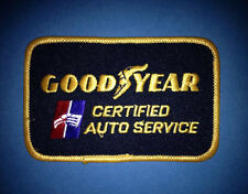 Vintage 1970's Goodyear Tires Certified Auto Service Jacket Hat Patch Crest 364R