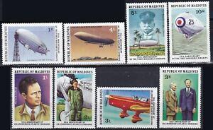 Maldive Islands 1977 Sc-701-8 Linberg & Zeppelin set of 8 MNH - US Seller