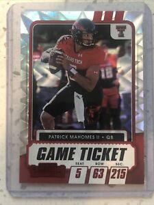 2021 Panini Contenders Draft Patrick Mahomes Red Explosion SSP Parallel 🔥