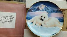 Franklin Mint Snuggle Up Seal Pup plate by Wepplo Limited Edition - Ja2149