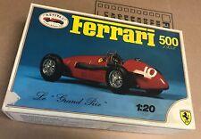 Vintage Italy Revival Ferrari 500 1953 Model Race Car Le Grand Prix Unassembled