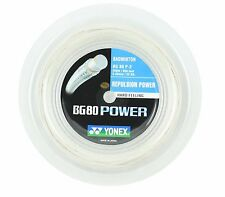 Original Yonex BG80 Power (white) 656ft 200m Reel Badminton String