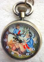 Taschenuhr mit Erotischem Motiv Retro Style - Läuft - siehe Bilder