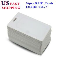 30Pcs Slim RFID 125KHz Writable Rewritable T5577 Card Proximity Fast Access Card