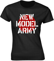 NEW MODEL ARMY Classic Band Logo WOMENS GIRLIE T-SHIRT OFFICIAL MERCHANDISE