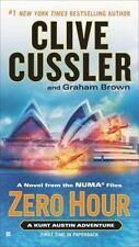 A NOVEL - ZERO HOUR   BY CLIVE CUSSLER A KIRT AUSTIN ADVENTURE - NICE
