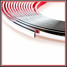 10 meter 6mm Silver Chrome Car Styling Moulding Strip Trim Adhesive