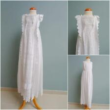 a49c61020 Antique Christening Dress Embroidered Whitework Gown Petticoat Victorian  c1870