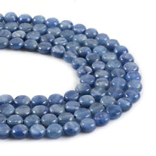 0591 8mm Kyanite flat round coin disc loose gemstone beads 16""