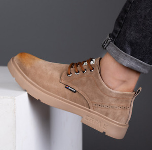 Men's Waterproof Safey Boots Leather Work Trainer Shoes Composite Toe Cap Casual