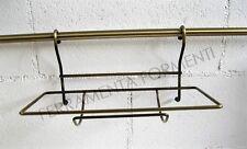cesto porta scottex per tubo portamestoli cucina sottopensile colore bronzo