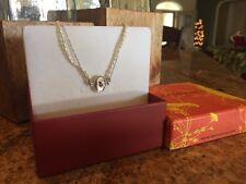 New!!!! Alex Monroe Pearl & Sterling Silver Snowdrop Cameo Fine Jewelry Bracelet