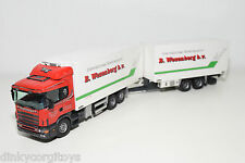 TEKNO SCANIA 124L 124 L TRUCK WITH FRIDGE TRAILER WEZENBERG NEAR MINT CONDITION