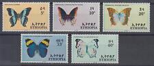 Äthiopien (Ethiopia) - Michel-Nr. 555-559 postfrisch/** (Schmetterlinge)