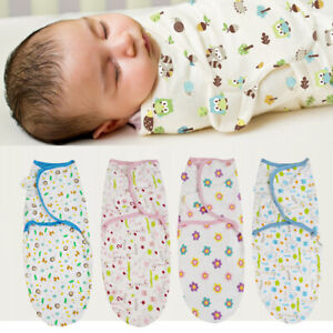 0-3 Months Pure Cotton NewBorn Baby Boy/Girl Swaddle Blanket Wrap Sleeping Bag