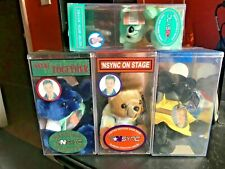 Rare lot of 4 Nsync Bears - Jc New in Original Package Sealed