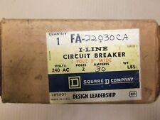 New In Box Square D Fa Fa22030Ca 30 amp 2 pole 240v Circuit Breaker Fa22030Ac