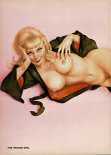 Vintage Alberto Vargas Girl Blonde Female Nude Pin Up Art 2-Page Print i