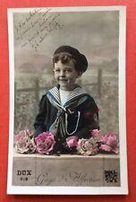 CPA. 1909. Petit Garçon. Costume Marin. Gage d'Affection.
