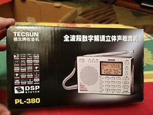 New In Box Tecsun PL-380 DSP with ETM PLL World Band Radio ** SILVER **