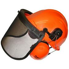 Chainsaw safety helmet complete with ear defenders and visor