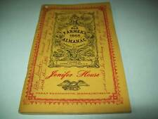 JENIFER HOUSE THE OLD FARMER'S ALMANAC 1968 by Robert B.THOMAS MASSACHUSETTS USA