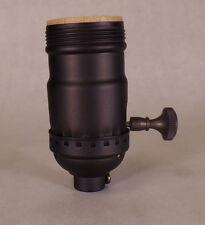 On/Off Uno Thread Bronze Finish Industrial Style Brass Turn Knob Lamp Socket 72B