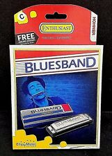 Hohner Enthusiast Blues Band Beginner Harmonica Key Of C #1501 FREE LESSONS! NEW