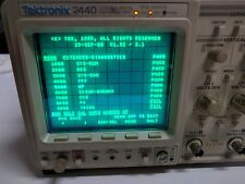 Tektronix 2440 500MS/s Digital Oscilloscope with Manuals (Fail PA and TRIG)