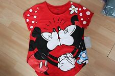NWT WOMENS DISNEY STORE SZ XS SHIRT VALENTINES MINNIE AND MICKEY MOUSE