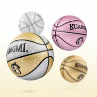 Kuangmi Colorful Fancy Child Basketball PU Leather Indoor/Outdoor Size 5 ball
